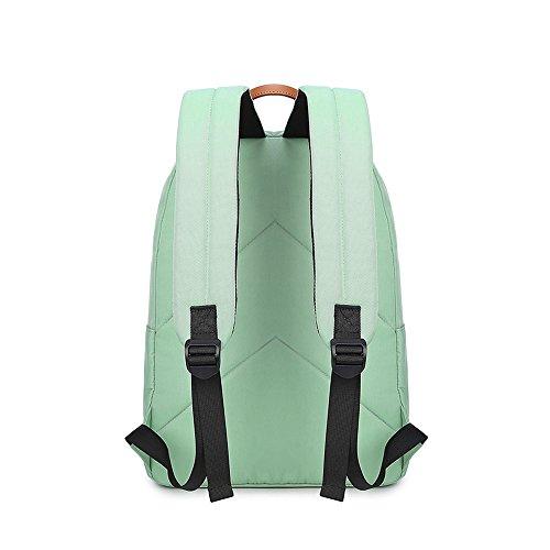 VLike Rücksack Rucksäcke Rucksack Backpack Daypack Schulranzen Schulrucksack Wanderrucksack Schultasche Rucksack für Schülerin Mädchen (Hell Grün) - 5