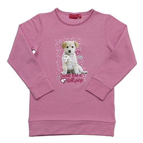 SALT AND PEPPER Sweat Cats & Dogs Lollipop, Felpa Bambina, Rosa (Candy Pink Melange 803), 6 anni