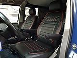 K-Maniac - Set di coprisedili per Sedile del conducente, Sedile passeggero, braccioli, coprisedili Auto, Accessori per Auto, Nero e Rosso