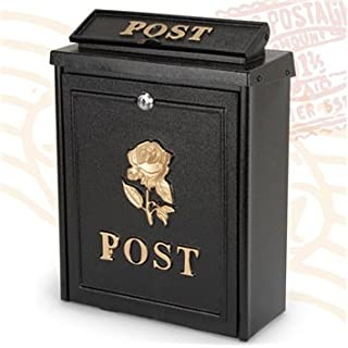 ARBORIA GARDEN DECOR MAIL BOX BLACK