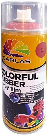 Carlas Colourful Rubber Spray Film-400 ML-C 6 Red-Self Adhesive