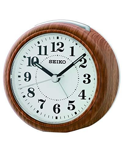 Seiko Clocks DESPERTADOR analog Quarzwerk Wecker von Holz QHE157B