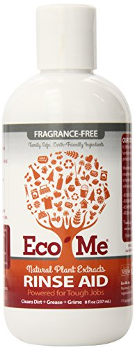Eco-Me Automatic Dishwasher Rinse Aid, Fragrance-Free, 8 Ounce