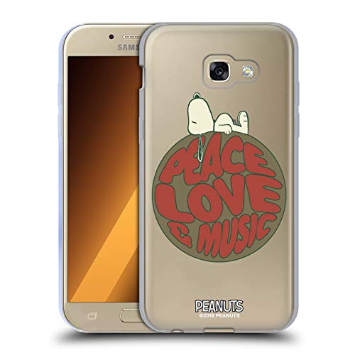 c602b5ae07 Head Case Designs Offizielle Peanuts Snoopy Peace Love Music Woodstock 50th  Soft Gel Hülle für Samsung
