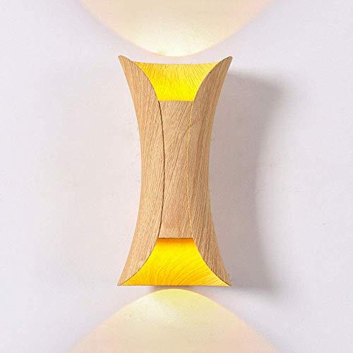 Modern 10W LED Wandleuchte 2-Flammig Außen Innen Aluminium Wandlampe Up Down Wand-Beleuchtung für Wohnzimme Schlafzimmer Bad Galerie Foyer Wasserdicht Wandlicht,Warmes Licht - Foyer Lichte Höhe