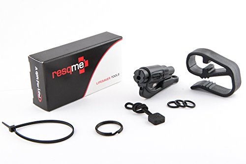 Resqme 01.300.01 Keychain Car Escape Tool with Visor Clip and Lanyard Value Set (Black)