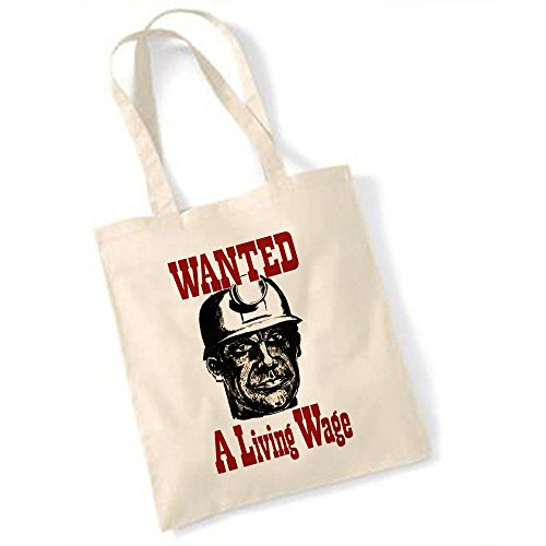 1972 Miners Strike Poster Wanted un salon salaire Totebag