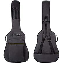CAHAYA Funda de Guitarra Universal Acolchada con 2 bolsillos para Guitarra Acústica y Clásica con raya