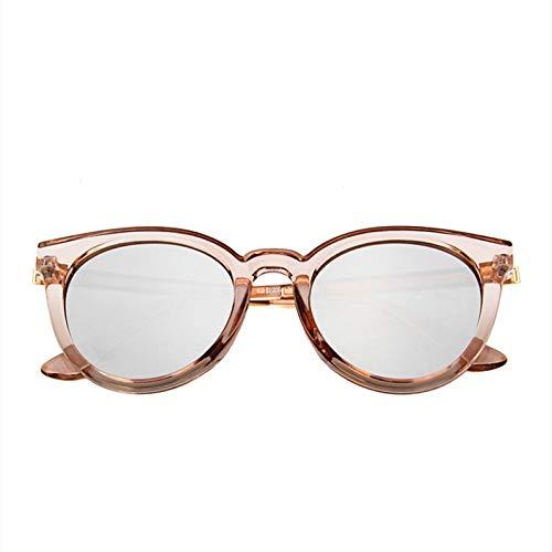 WWVAVA Sonnenbrillen Sonnenbrille Frauen Luxuxmarken Designer Maxi-Runde Sonnenbrillen Damen Steigungsschatten Klare Brillen, Gold