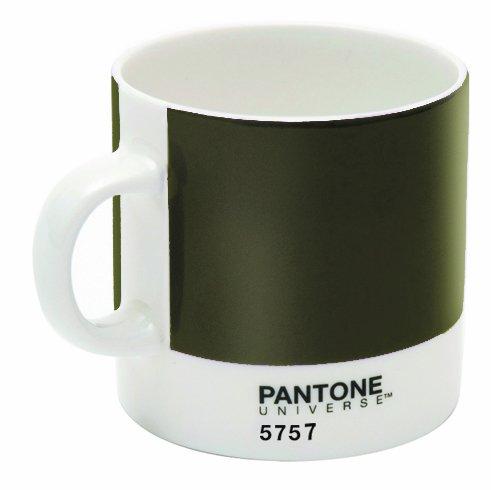 Pantone 5757 Bone China Tasse à espresso, Vert olive