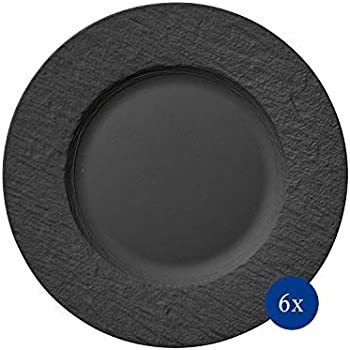 BANFANG Essteller-Set aus Keramik, handgemacht, schwarzes