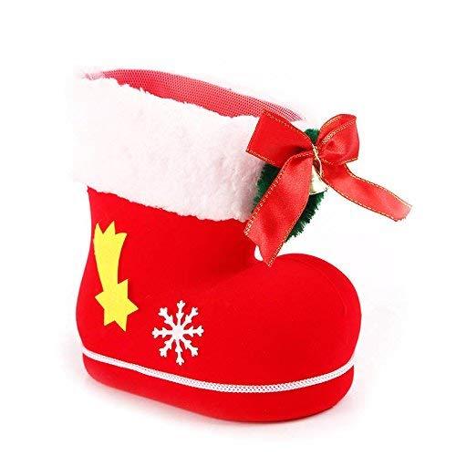 Metyere Merry Babbo Natale Stivale Scarpe da Parete Caramelle Sacchetti Regalo Natale Decorazione Albero - Large