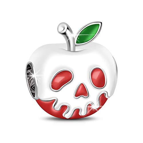 GNOCE Apfel geformte Charm Anhänger 925 Sterling Silber Charms für Armbänder und Halsketten Geschenk für Ihre
