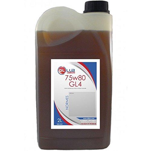 DLLUB – HUILE BOITE VITESSE MINERALE 75W80 – 2 litres pas cher