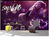 BHXINGMU Murales Personalizados Encanto Damas Hotel Discoteca Ktv Decoración De Pared 150Cm(H)×200Cm(W)