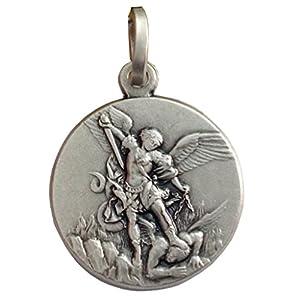 925 Sterling Silber Heilige Michael der Erzengel Medaille – Der Schutzheiligen Medaillen