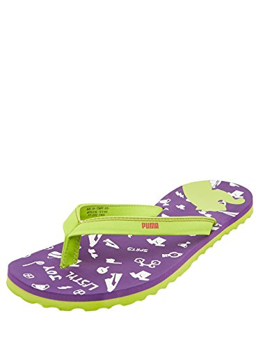 Puma Women's Coral Xc Ind. Purple Magic, Green And White Mesh Flip-flops And House Slippers - 7 Uk/india (40.5 Eu)