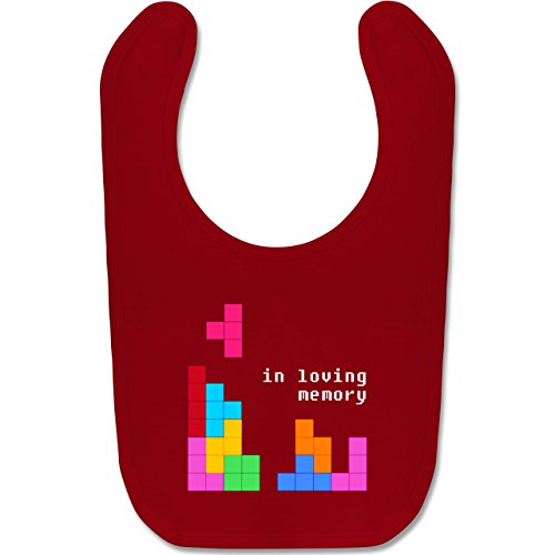 Nerds & Geeks - Tetris in loving memory - Unisize - Rot - b015a3rx74 - BZ12 - Baby Lätzchen Baumwolle