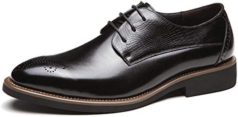 Primavera Hombres Tallados Cuero Zapatos De Hombres Negocios Zapatos Casuales -