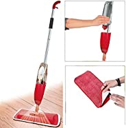HEMIZA Zamkar Trades Floor Healthy Cleaner Mop with Removable Washable Cleaning Pad and Integrated Water Spray