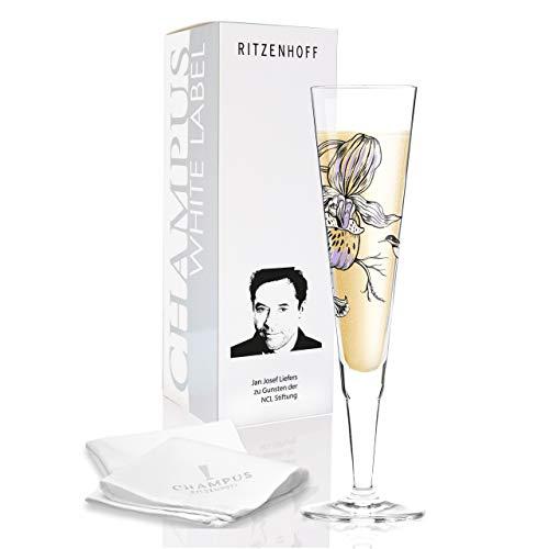RITZENHOFF White Label Champagnerglas, Glas, Mehrfarbig, 7 x 7 x 24 cm