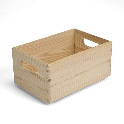 Amazinggirl Allzweckkiste Holzkiste holzschachtel Holzbox - aufbewahrungsbox Holzkisten ohne Deckel Aufbewahrungskisten Holz Schachtel
