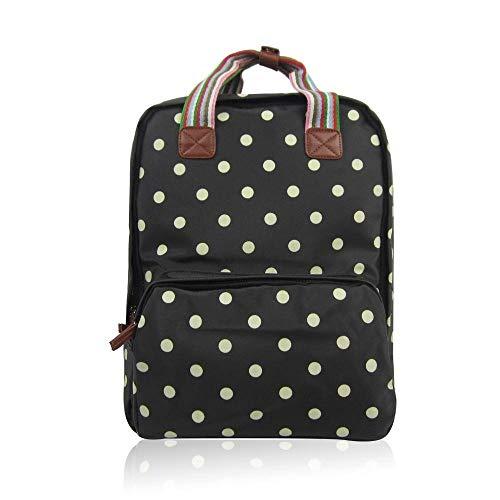 Polka Dots Tasche | Vintage Notebook | Laptop |Rucksack | Blumen | Dot Bloom