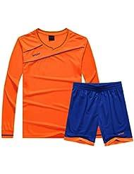 950dd76b31458 Aiweijia Chaqueta de Uniforme de fútbol de Manga Larga para niños para  niños Traje de Entrenamiento