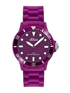 s.Oliver Unisex-Armbanduhr Silikon violett SO-2302-PQ