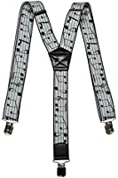 Formal Patterned Y-Shape Braces / Suspenders with Musical Patterns, 3.5cm