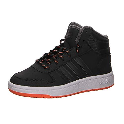adidas Unisex-Kinder Hoops Mid 2.0 Basketballschuhe, Grau Carbon/Grefiv/Hireor, 37 1/3 EU