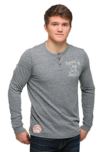 Kansas City Chiefs Huddle Henley Long Sleeve Shirt Medium (Kansas Chiefs Spielzeug City)