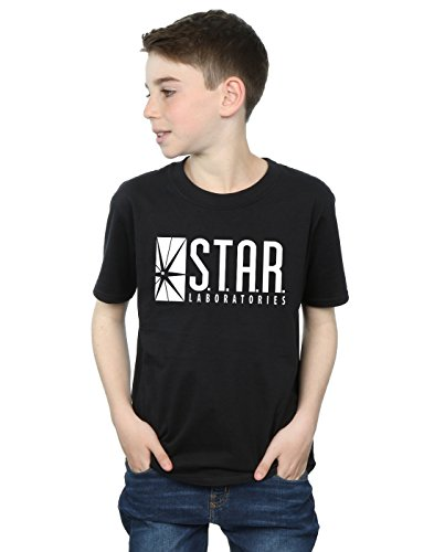 DC Comics Jungen The Flash Star Labs T-Shirt 12-13 years Schwarz (Comics Dc Kinder)