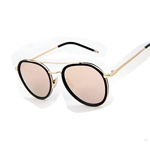 Wkaijc Flach Göttin Avantgarde Sonnenbrillen Große Kiste Männer Und Frauen Bequem Leicht Stylish Persönlichkeit Sonnenbrillen,Red