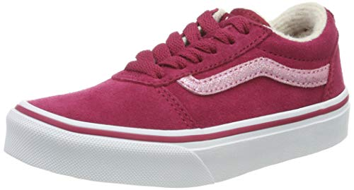 Vans Ward Suede, Zapatillas para Niñas, Rojo Weatherized Cerise/True White V2l, 35 EU