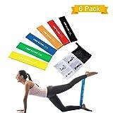 TOPELEK Elastici Fitness, Banda Elastica Set di Ottimi 6 Bande Esercizi, Loop Resistance, Bande di Resistenza per Esercitare Braccia e Mani, Glutei, Gambe, Fitness e la Riabilitazione