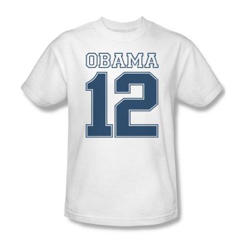 Obama-Maglietta da uomo, colore: bianco Bianco