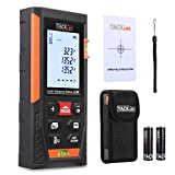 Télémètre Laser 60m, Tacklife Metre Laser, Ecart 1.5mm, Calcule Distance Surface Volume, Fonction Pythagore, Stocker 30 données, 2 Niveaux à Bulle, Fonction Muet, IP54, LCD Rétro-éclairage