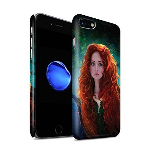 Officiel Elena Dudina Coque / Clipser Matte Etui pour Apple iPhone 8 / Notre Dame Design / Caractère Conte Fées Collection Princesse