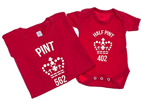 pint-and-half-pint-mens-t-shirt-with-short-sleeve-bodysuit-matching-gift-set-l-3-6-red