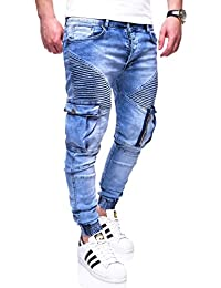 MT Styles style biker Jogging-Jeans homme RJ-3224