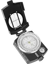 Präzisionskompass im Metallgehäuse mir Peileinrichtung und Tasche