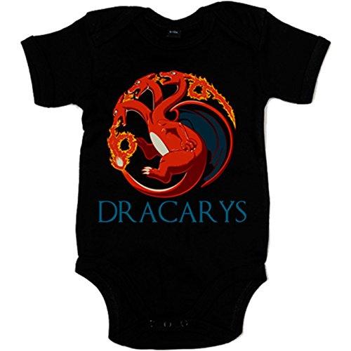Body bebé Juego de Tronos Dracarys Targaryen - Negro, 12-18 meses