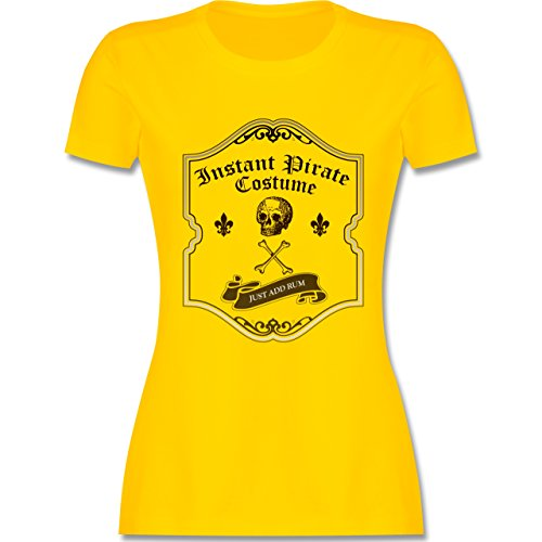 Piraten & Totenkopf - Instant Pirate Costume - Just add Rum - XXL - Gelb - L191 - Damen T-Shirt ()