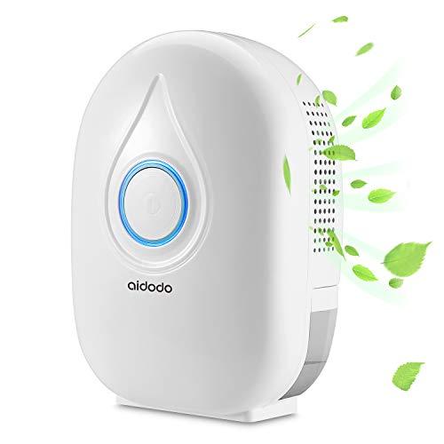 Aidodo deumidificatore portatile mini compatto con serbatoio da 500ml silenzioso basso consumo elettrico deumificatori casa per armadio stanze cantina ufficio camera da letto