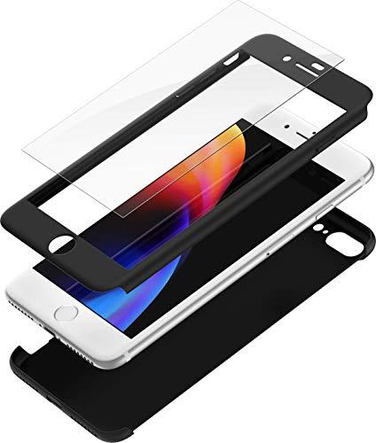 1c5c70159a2 Mobilyos Funda iPhone 6s 360 Grados Completa Carcasa Integral con Protector  de Pantalla de Vidrio Templado ...
