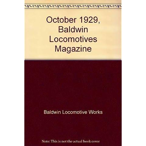 October 1929, Baldwin Locomotives (Baldwin Magazine)