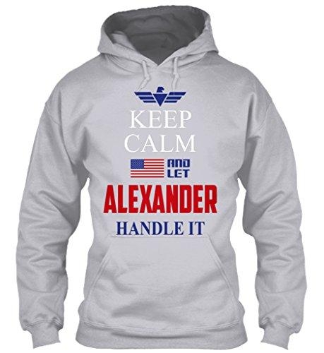 teespring Men's Novelty Slogan Hoodie - Keep Calm and Let Alexander Handle It