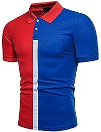 Kanpola Poloshirt T-Shirt Herren Slim Fit Business Casual Sommer Hemd Polo  Shirt b5dcaeefe5