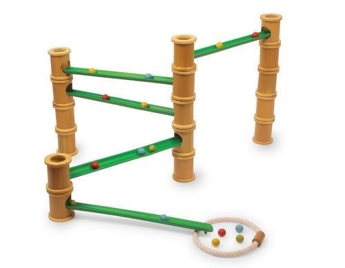 Circuit à billes en bambou naturel
